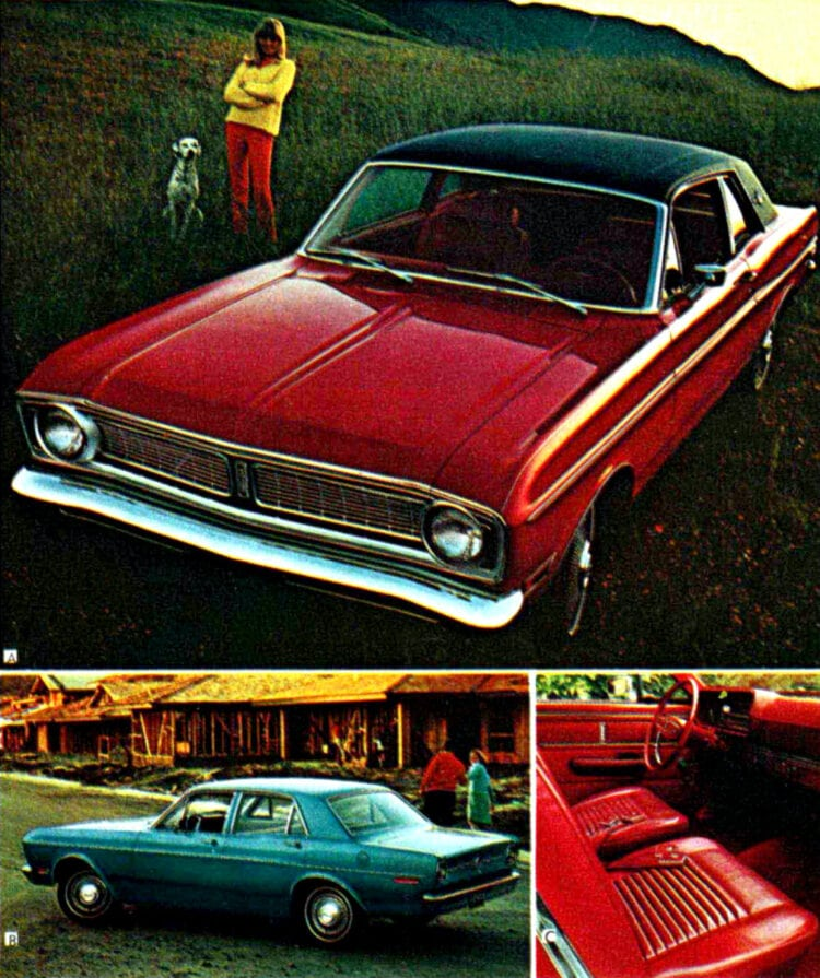 Classic 68 Ford Falcon has 7 models. More than any other compact car.
