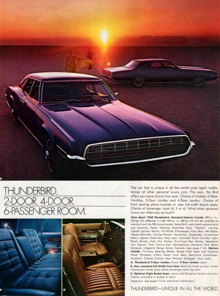 68 Ford Thunderbird cars (1)