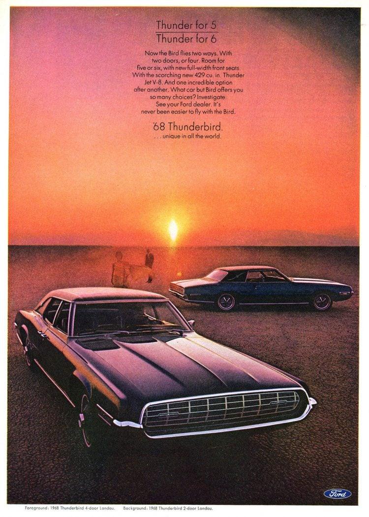 68 Ford Thunderbird cars (2)