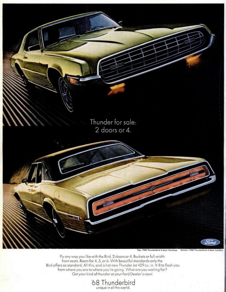 68 Ford Thunderbird cars (3)