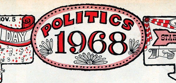 68 Presidential election Nixon, Romney, McCarthy, Reagan, Johnson