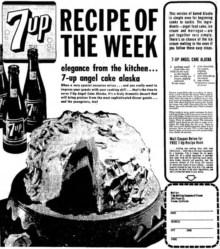 7-Up Angel Cake Alaska