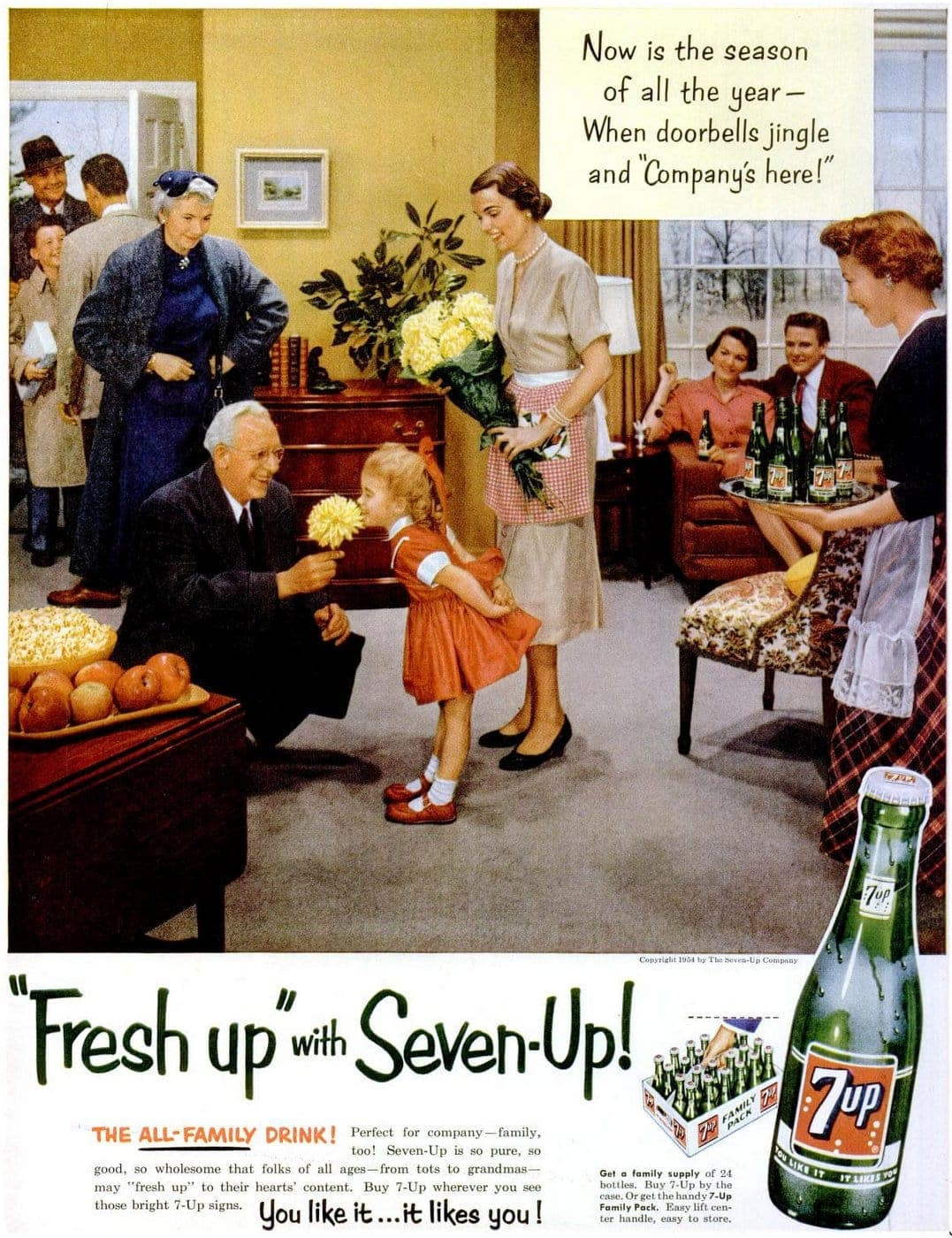 7-UP drink - Nov 22, 1954 Party home