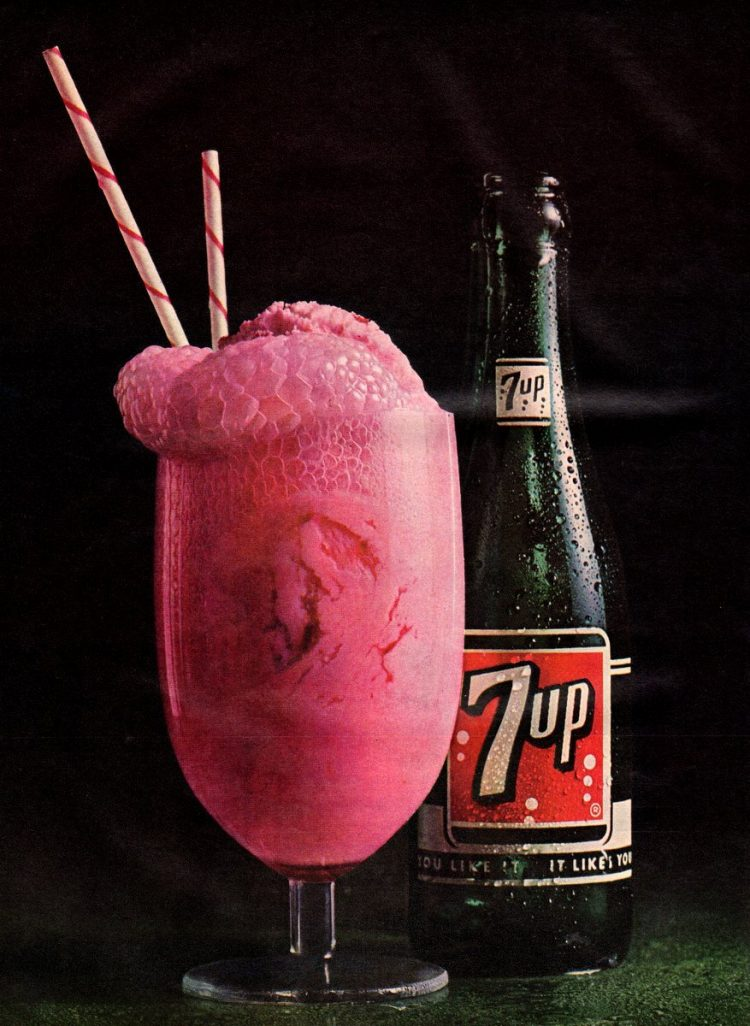 7-Up float Seven-Up soda & ice cream for a truly retro treat 1964 (1)