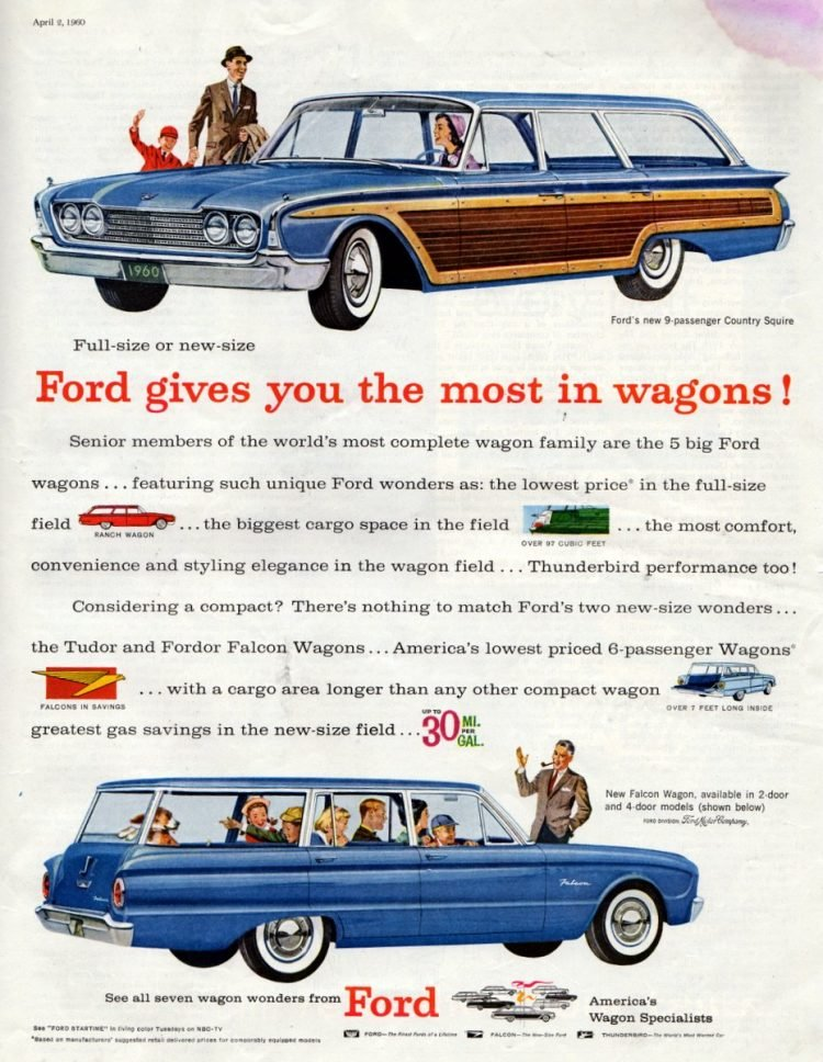 Full-size or new-size,Ford gives you the most in wagons!