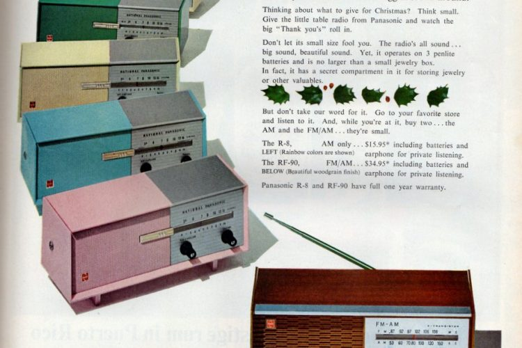 7-inch all-transistor Panasonic tiny table radio 1965