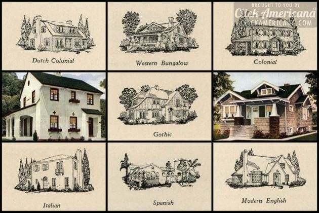 7 popular new home styles of the 1920s