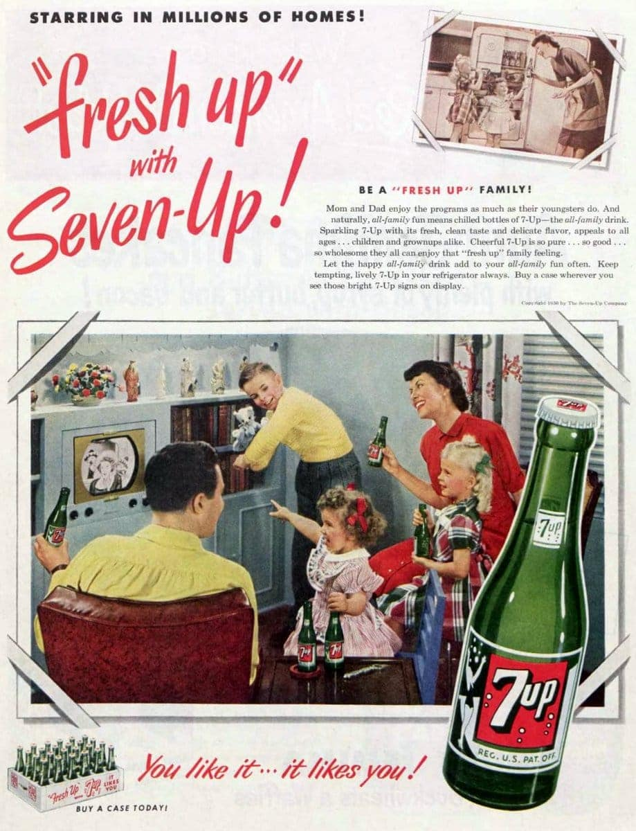 7-up vintage ad from 1950
