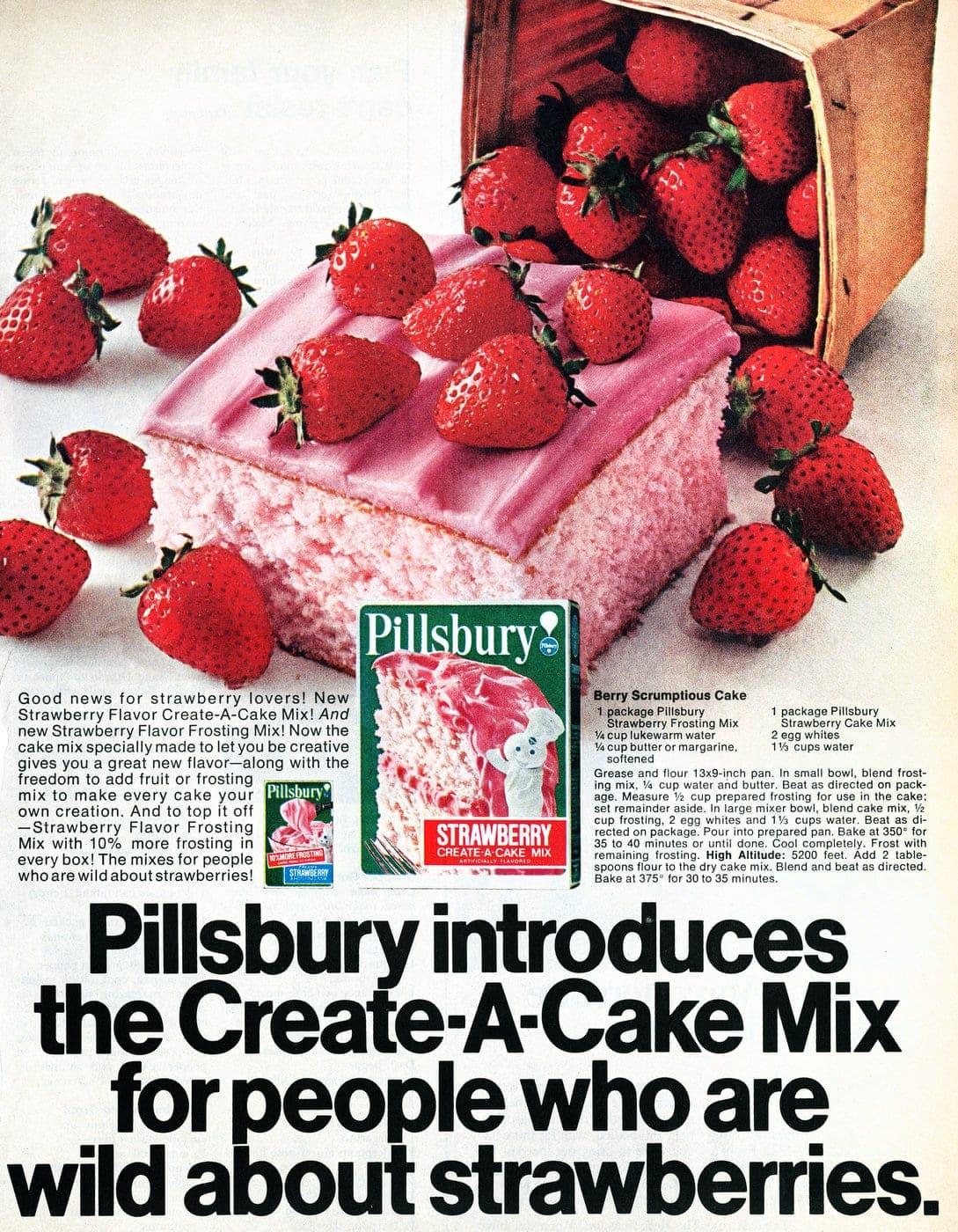 70s Pillsbury strawberry cake mix (1971)