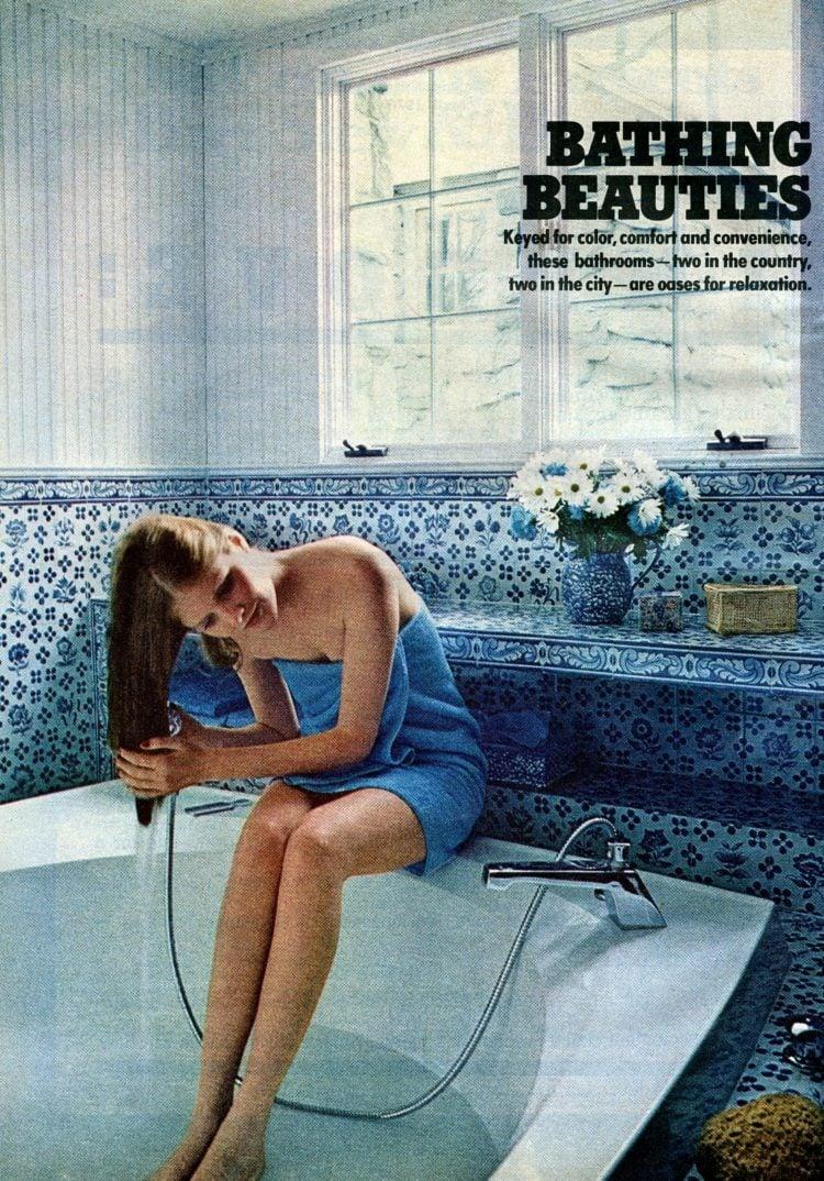 70s retro bathroom decor