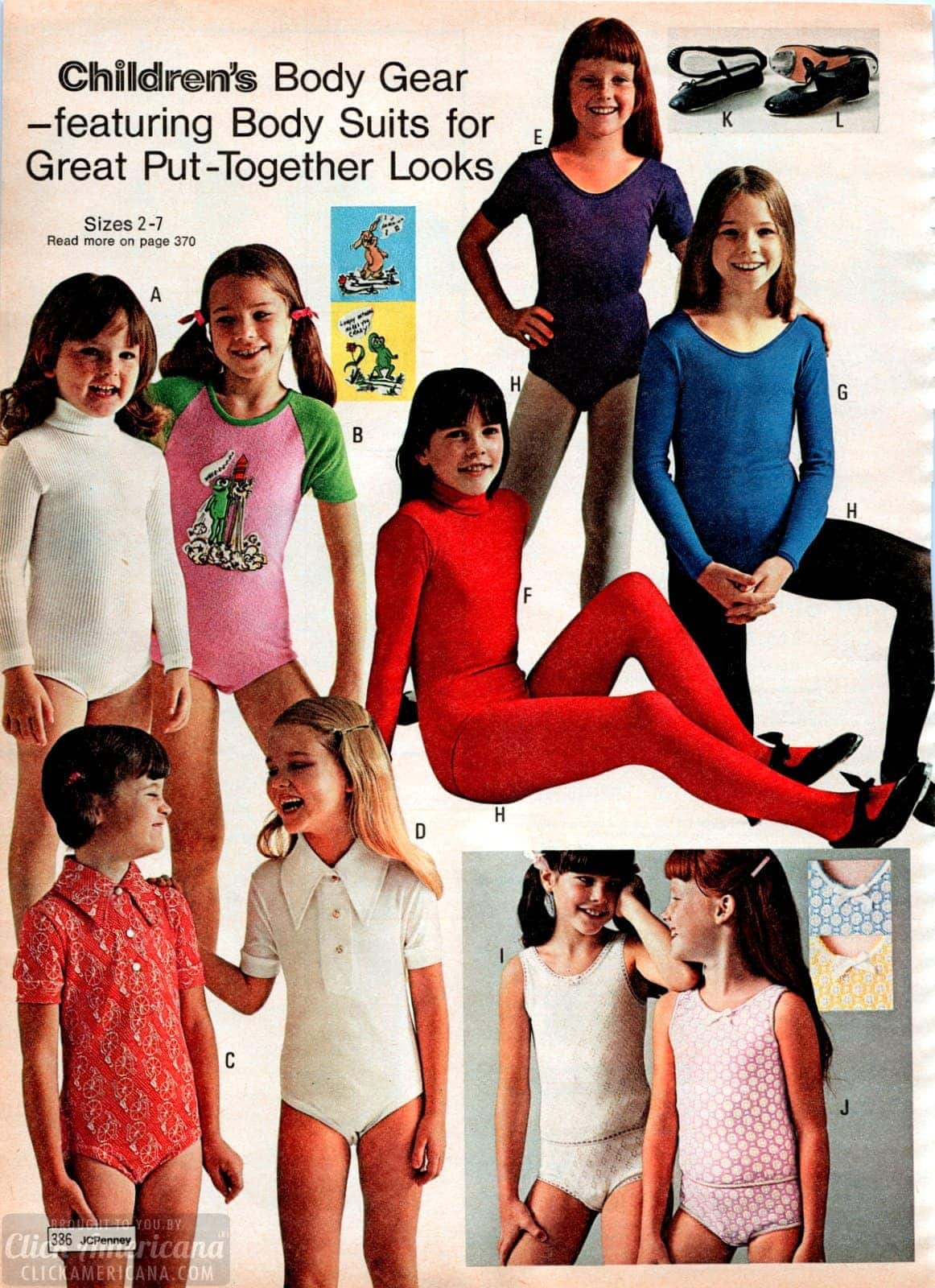70s bodysuits and leotards for girls ages 2 to 7