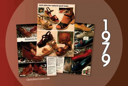 70s shoes for women from the 1979 Sears catalog