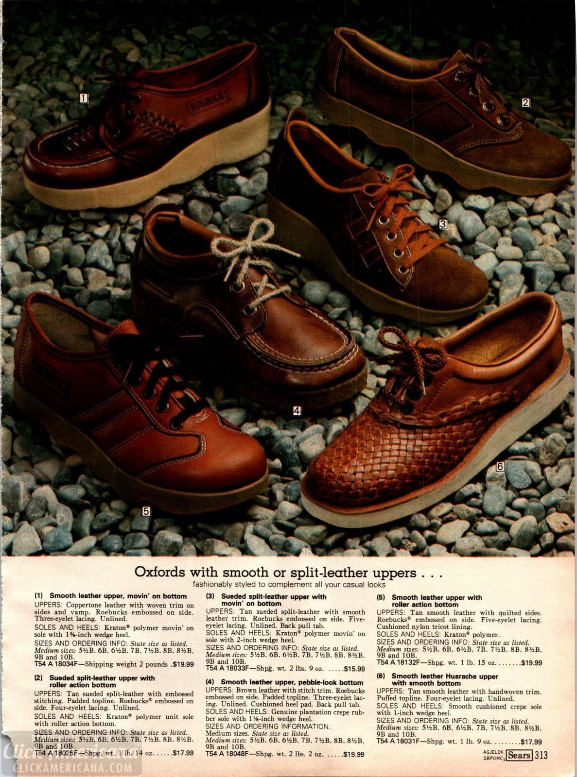 70s-style Oxfords with brown leather uppers and wavy platform soles
