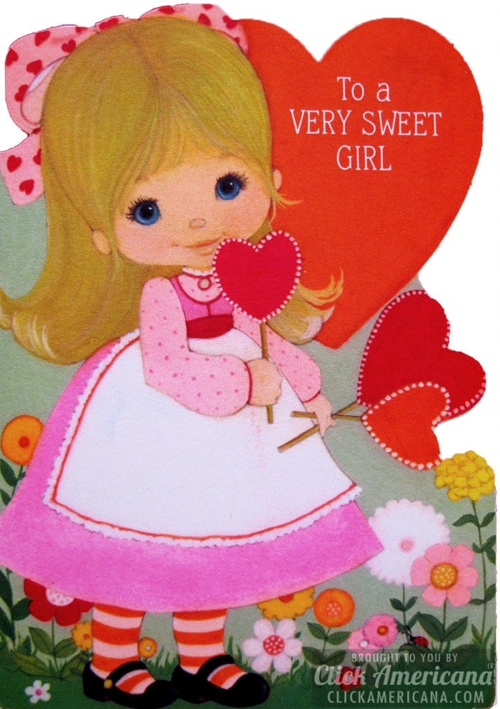 Hallmark Valentine cards: To a very sweet girl