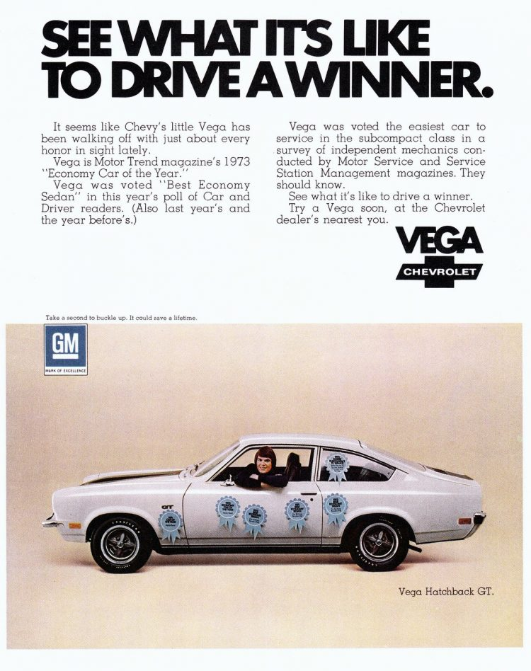 73 Vega car - Winner