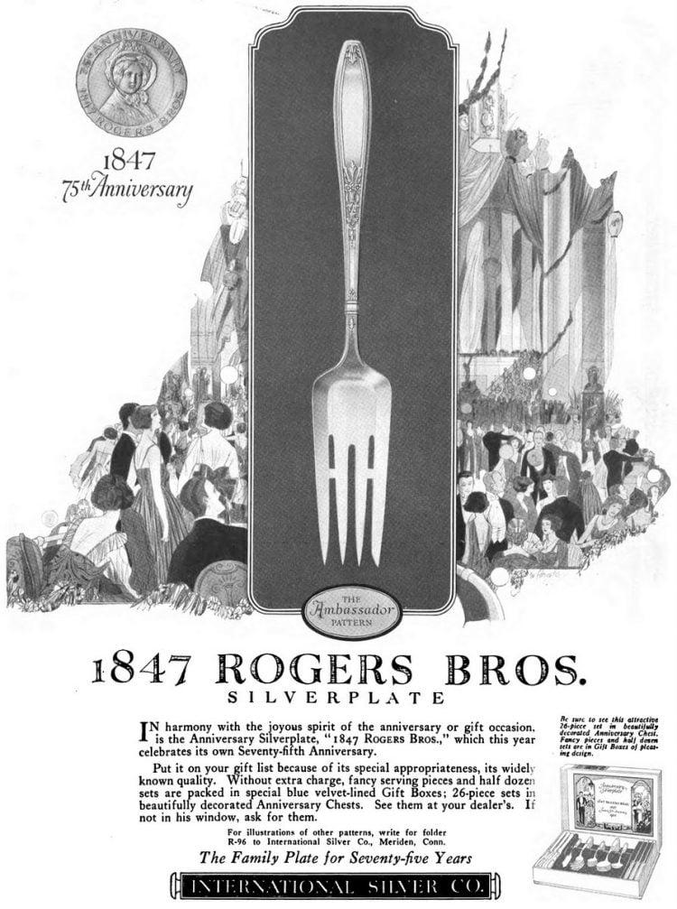 75th anniversary silverplate (1922)