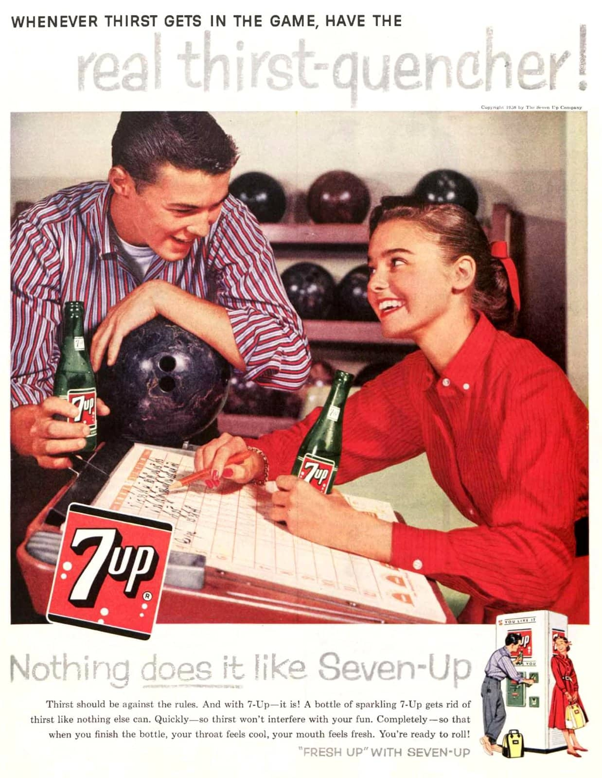7Up - real thirst-quencher (1958)