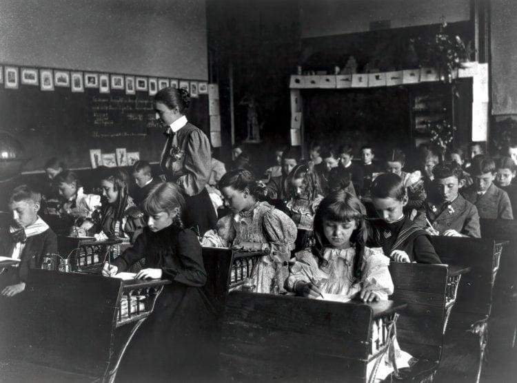 7th Division grade school pupils in DC 1899