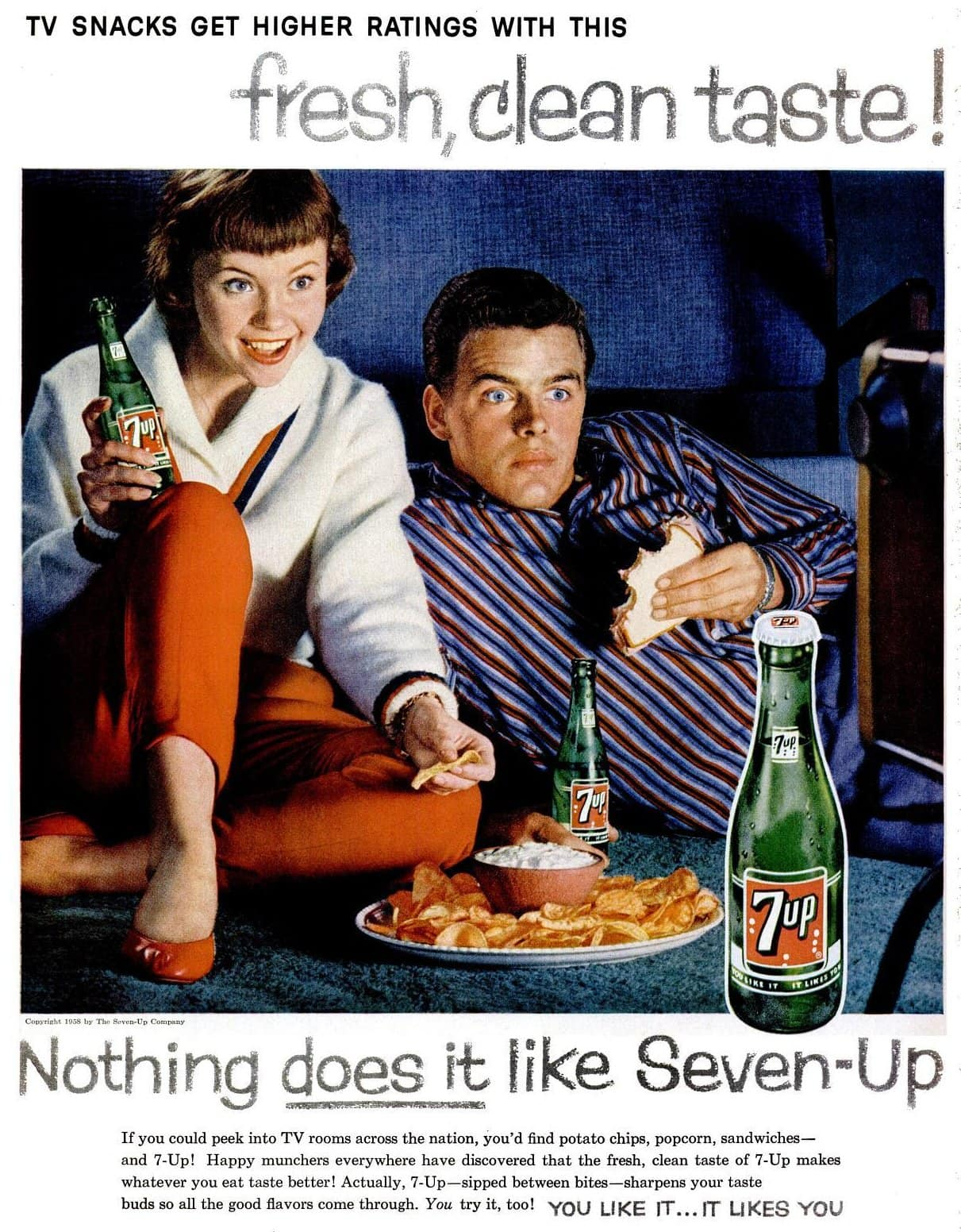 7up TV show 1958 food party