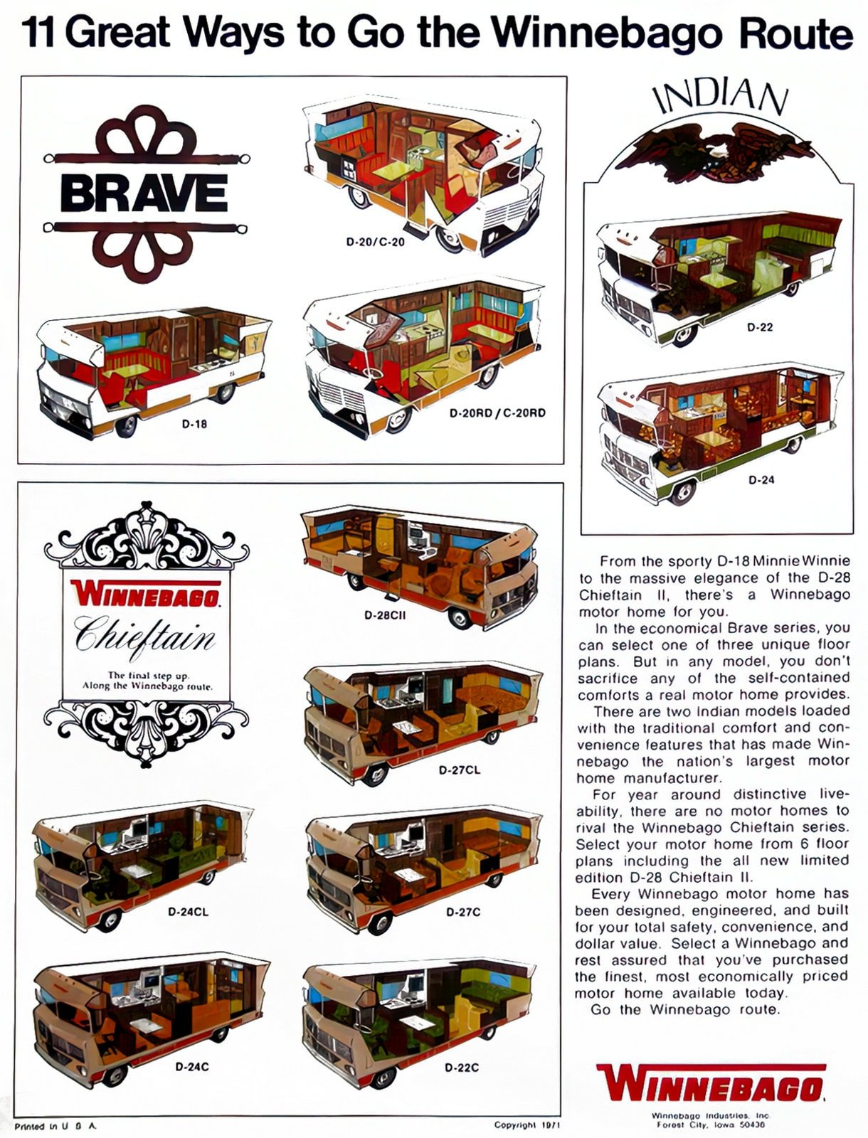 11 great ways to go the Winnebago route (1971)