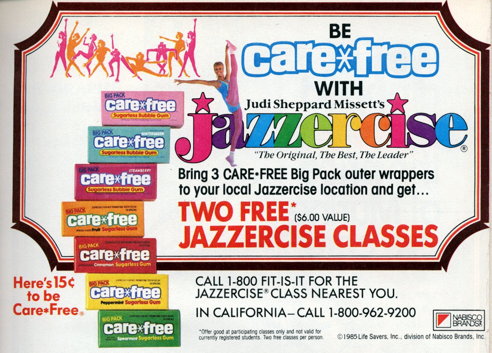 80s Care-Free gum and Jazzercise (1985)