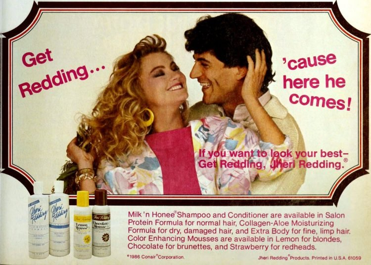 80s Jheri Redding shampoo and conditioner from 1986