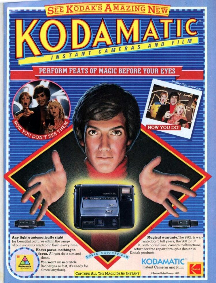 80s Kodamatic instant cameras 1982