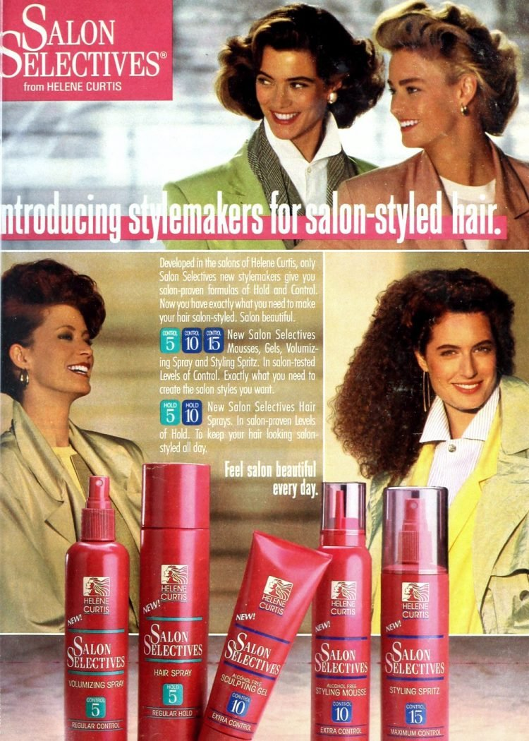 80s Salon Selectives hair styling products 1988