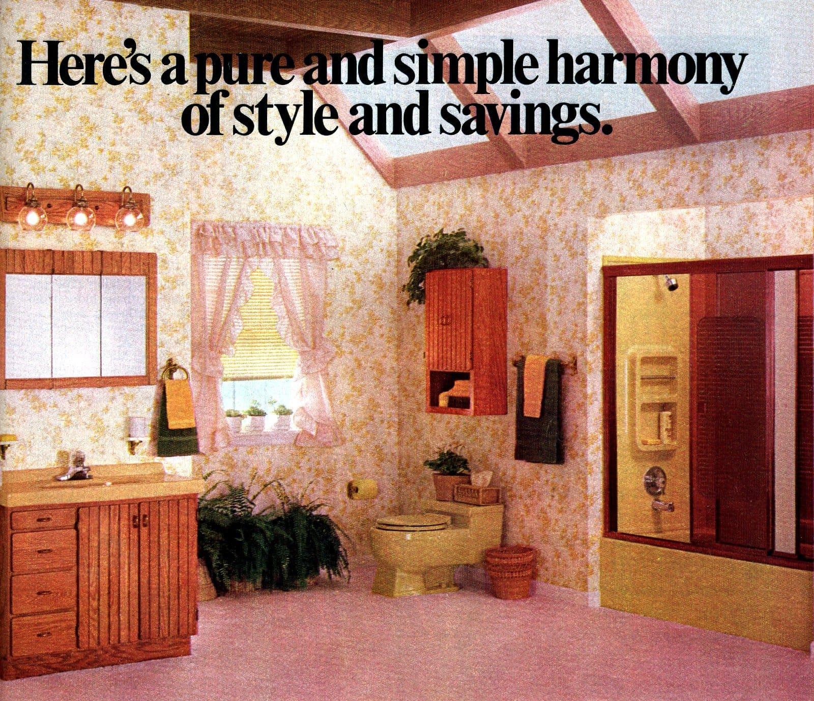Pink 80s bathroom decor with simple style (1982)