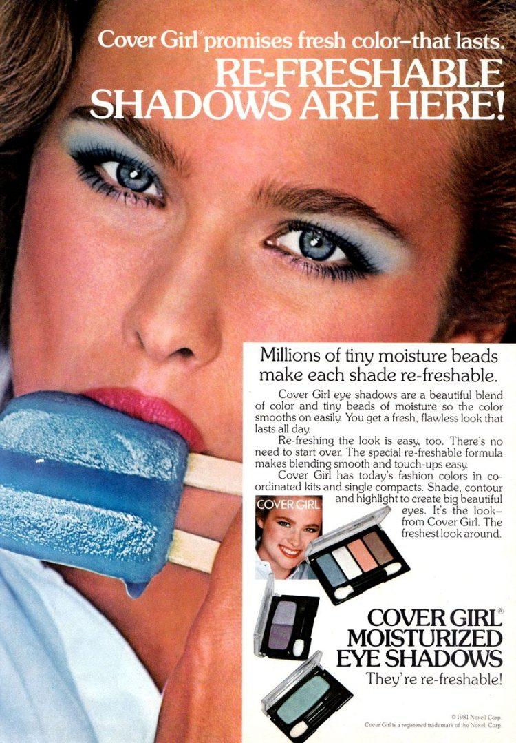 80s cover girl blue eye shadow