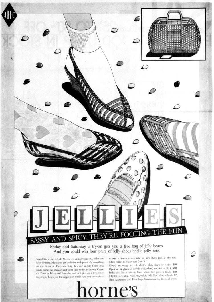 91732afc6a53 Get your jellies on! Jelly shoes are the footwear of summer (1980s ...