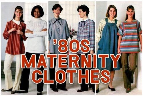 80s maternity clothing - Vintage pregnancy fashion