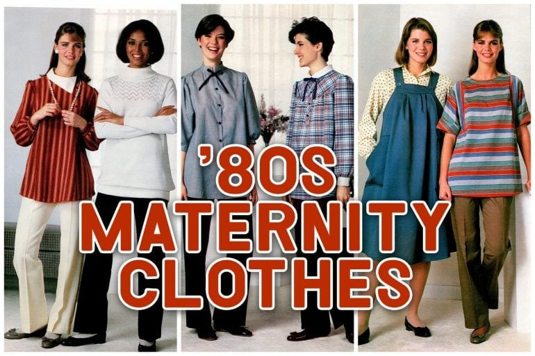80s maternity clothing - Vintage pregnancy fashion