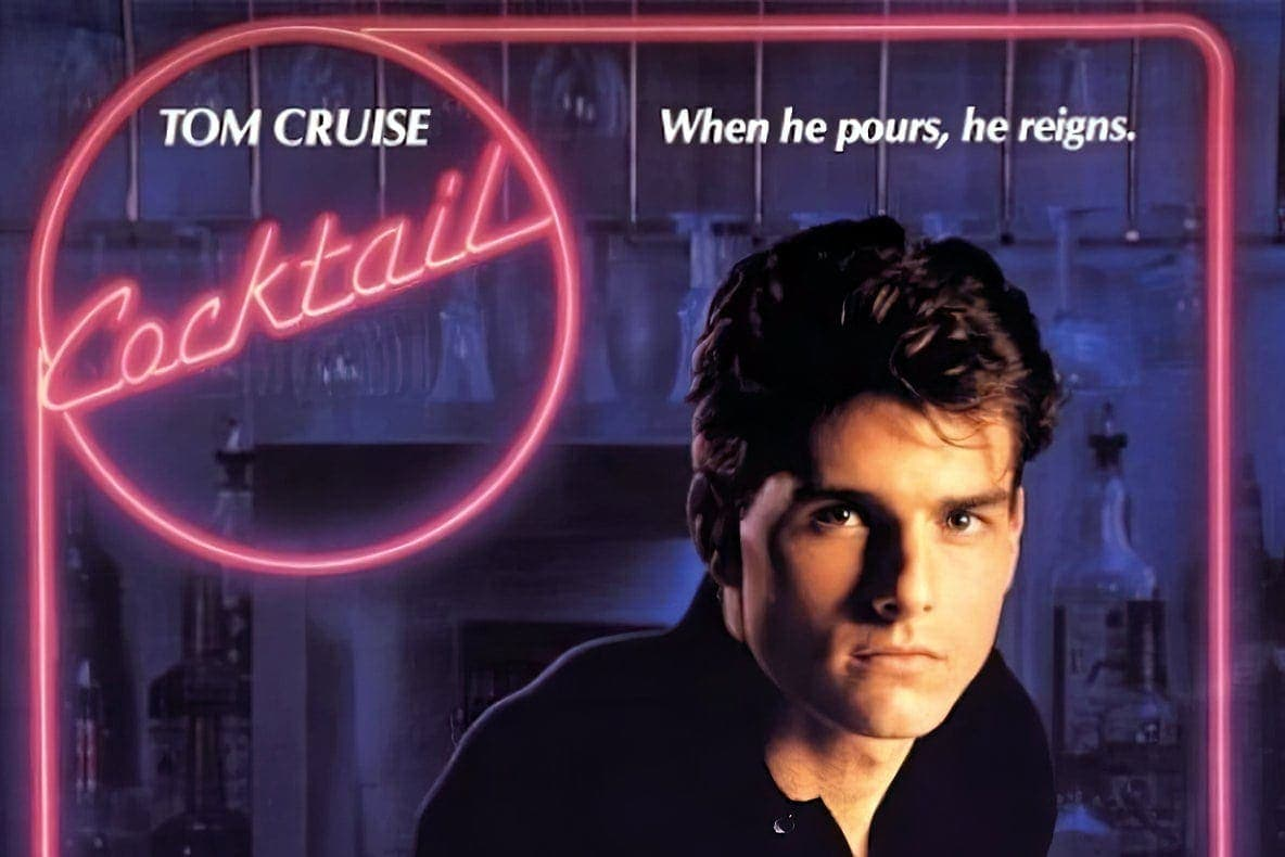 80s movie Cocktail, Tom Cruise made a splash as a star bartender
