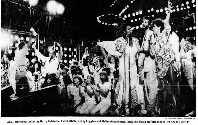 80s music - Live Aid concert - Philadelphia Inquirer - July 14, 1985