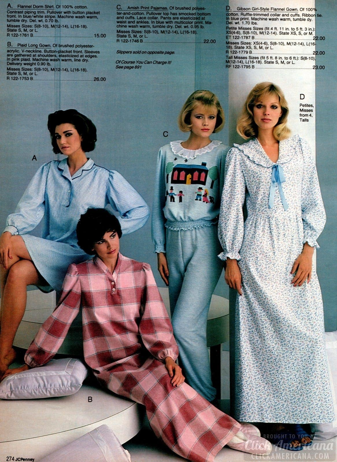 80s pajamas and vintage nightgowns from 1983