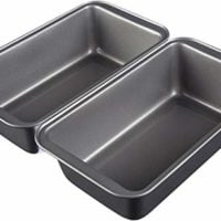 "AmazonBasics Nonstick Carbon Steel Bread Pan - 9.5 x 5"", 2-Pack"