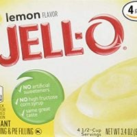 Jell-O Lemon Flavor Instant Pudding & Pie Filling, 3.4 Oz (96g) 4-pack