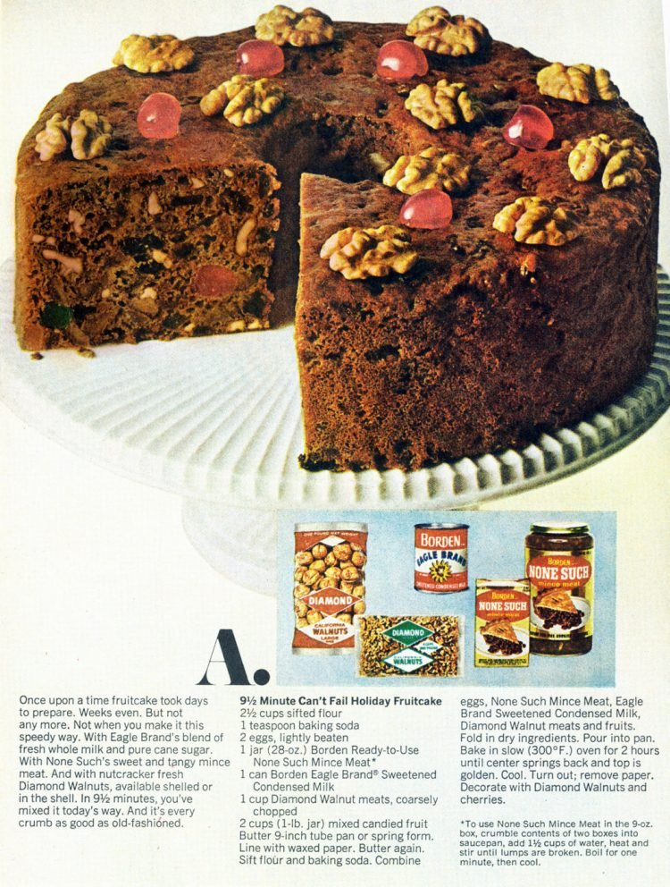 9-minute 'can't fail' holiday fruitcake The classic recipe from 1969