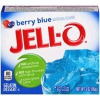 JELLO Berry Blue Gelatin Dessert Mix (3oz Box)