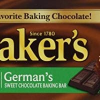Baker's, German Sweet Chocolate, Baking Bar, 4oz Bar (Pack of 6)