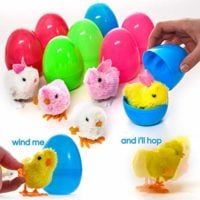 Prextex Large Toy Filled Easter Eggs Filled with Wind-Up Rabbits and Chicks