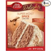 Betty Crocker Super Moist Cake Mix Spice 15.25 oz Box (pack of 6)