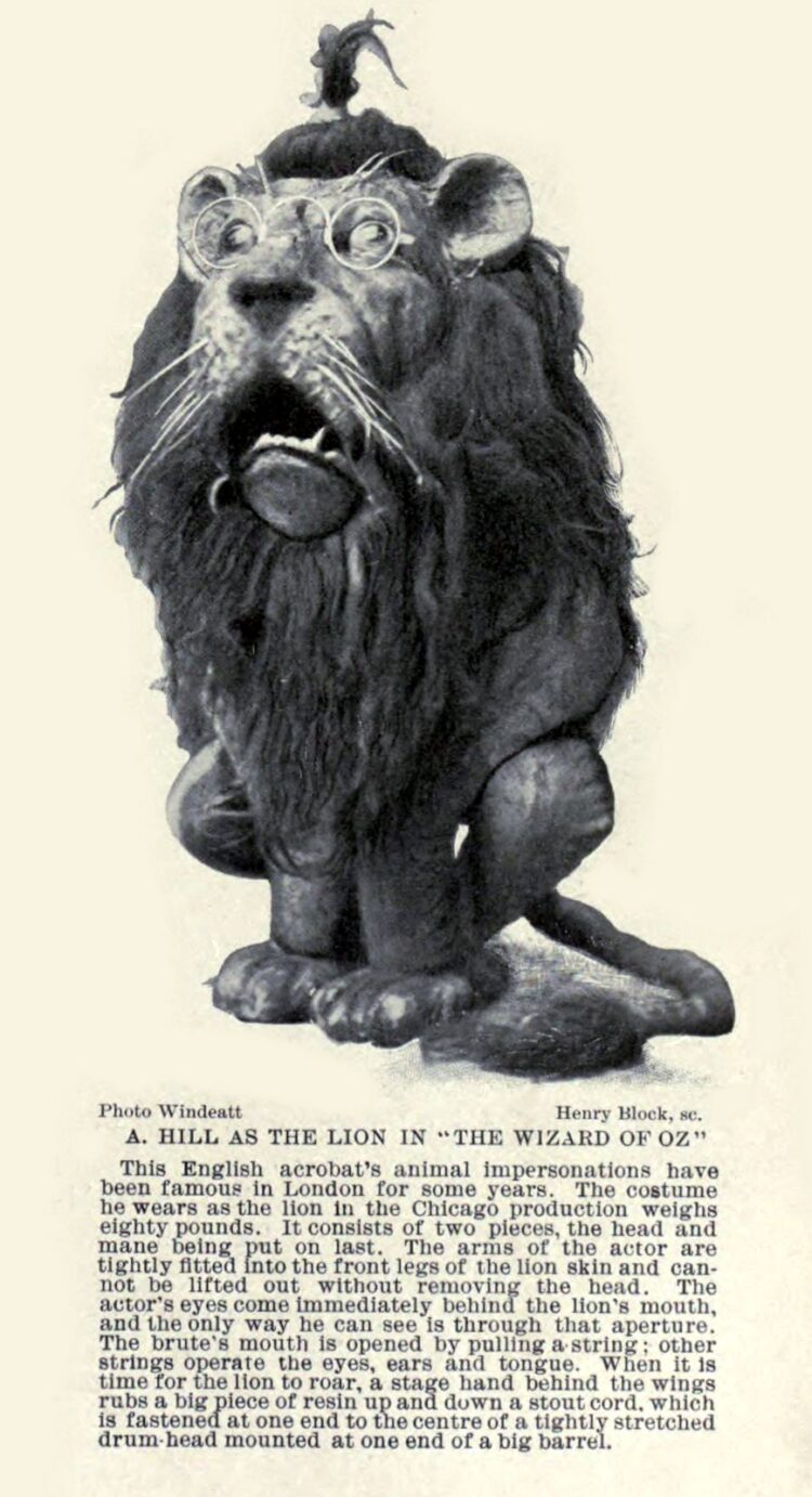 A Hill as the Lion in the Wizard of Oz c1904