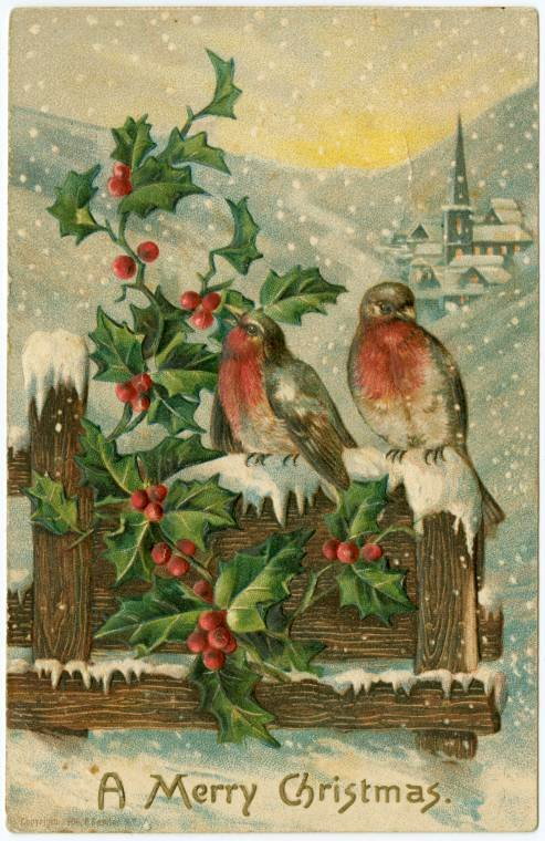 A Merry Christmas vintage card from 1906