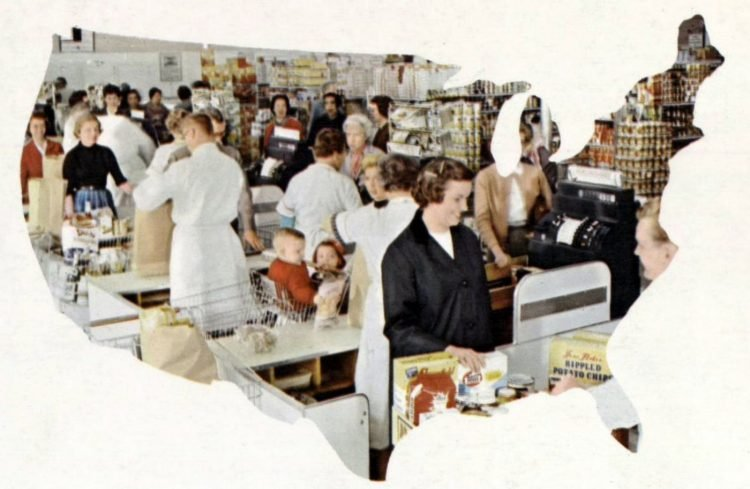 A-P vintage grocery store - 1960