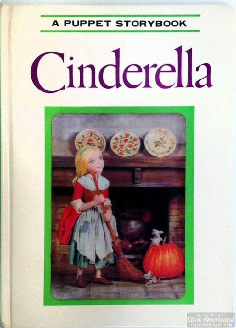 A Puppet Storybook vintage book Cinderella