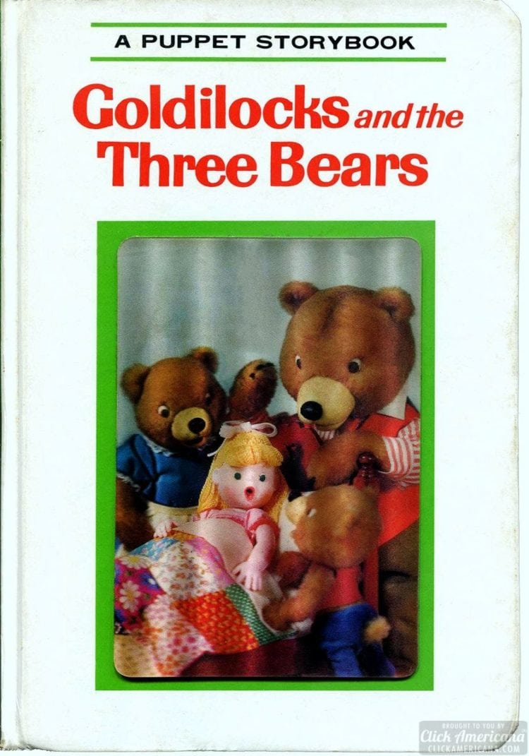 A Puppet Storybook vintage book Goldilocks and the Three Bears