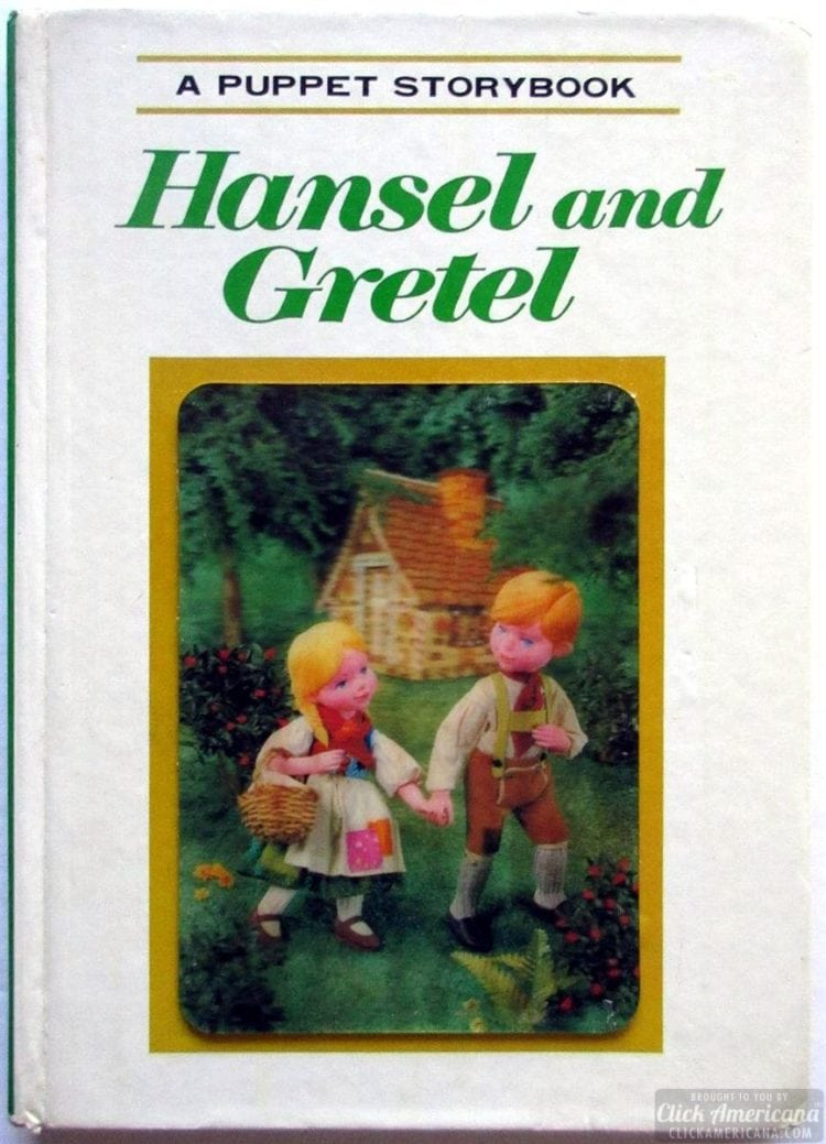 A Puppet Storybook vintage book Hansel and Gretel