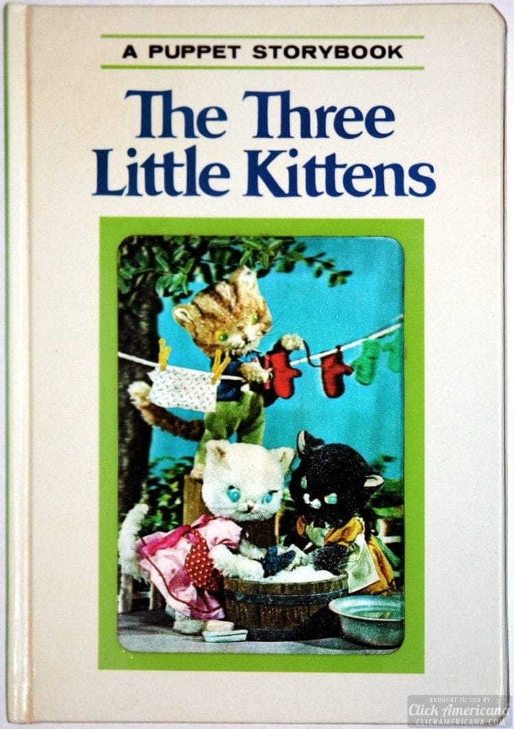 A Puppet Storybook vintage book The Three Little Kittens